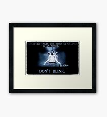 Weeping Angel/ Don't Blink Framed Print