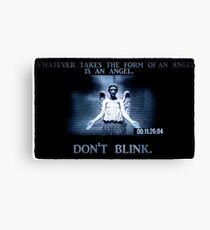 Weeping Angel/ Don't Blink Canvas Print