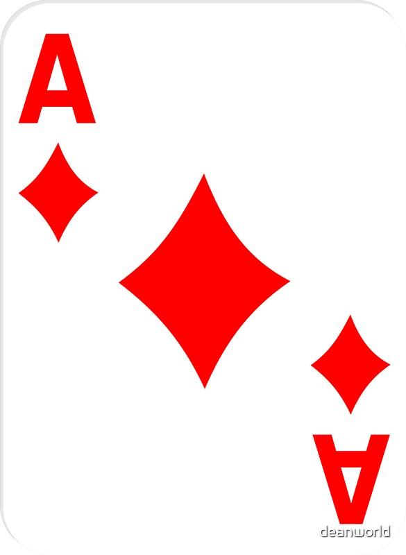 Quot Ace Of Diamonds Lucky Suit T Shirt Diamond Card Sticker