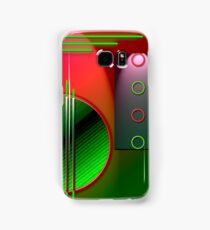 #59 Abstract Digital Art; circles & lines. Samsung Galaxy Case/Skin