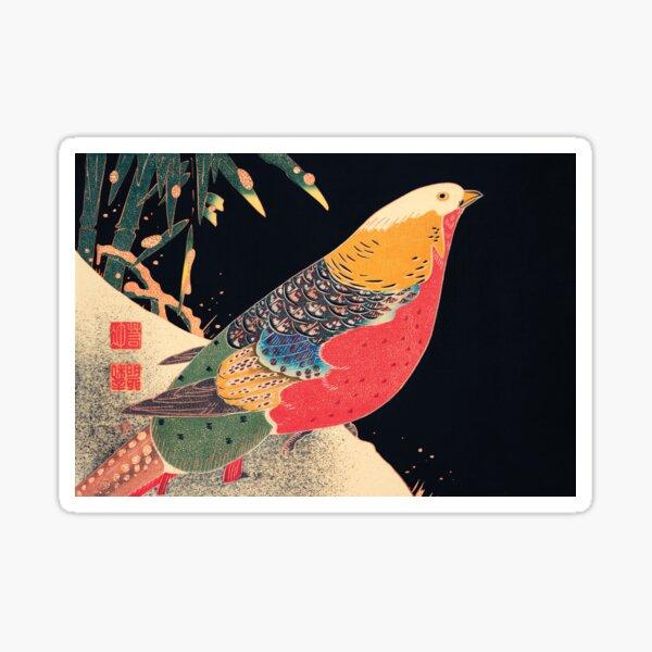 Golden Pheasant: Golden Pheasant in the Snow Sticker
