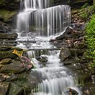 Waterfall at West Milton by Kenneth Keifer
