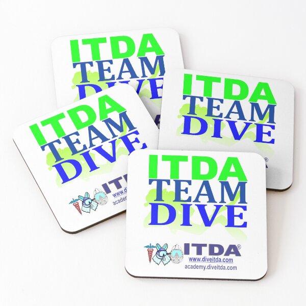 Team ITDA Dive (Green) Coasters (Set of 4)