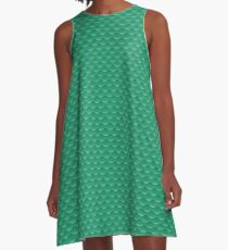 Ariel mermaid green A-Line Dress