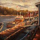 Rustico Harbor Sketch by Monica Vanzant