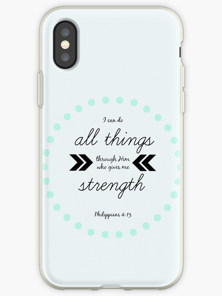 Philippians 413 Design 1 Iphone Cases Covers By Cassandra