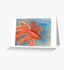 Goldfish Pond Greeting Card