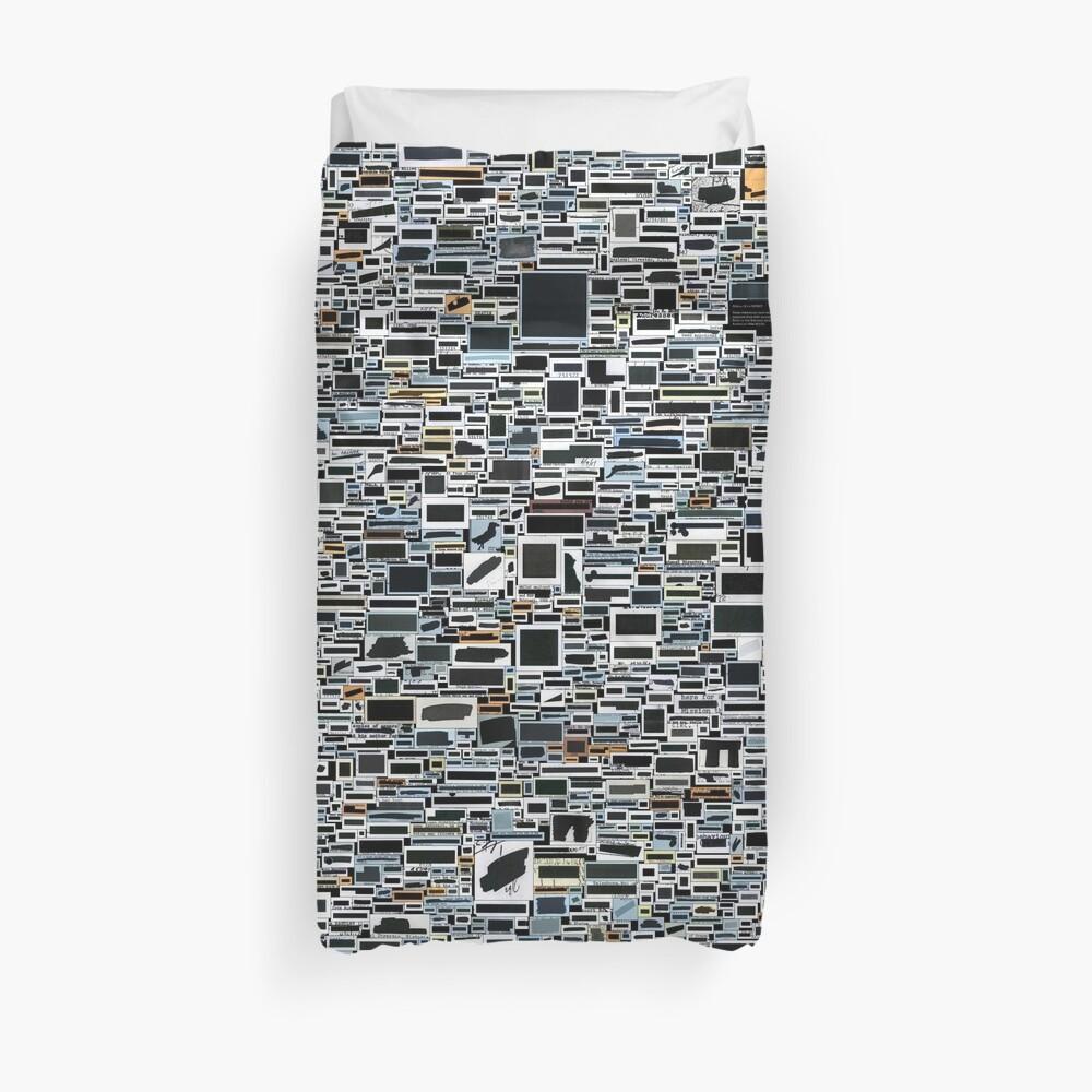 Sleep soundly in secret with #redactionart Duvet Cover