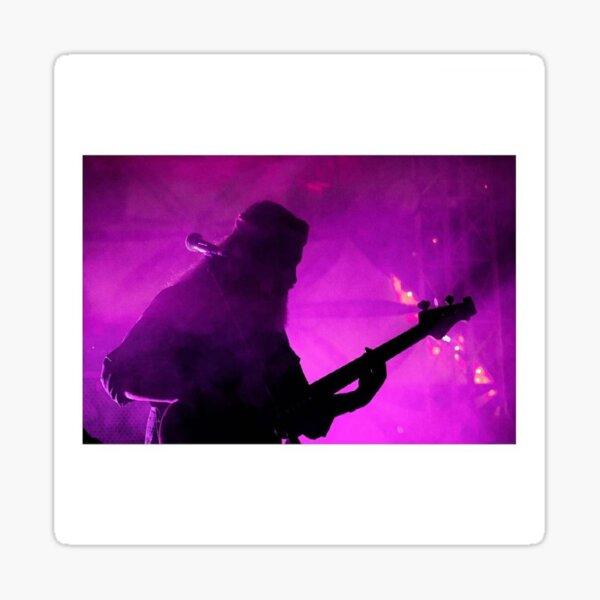 Smokey Scene bass guitar player photograph Sticker