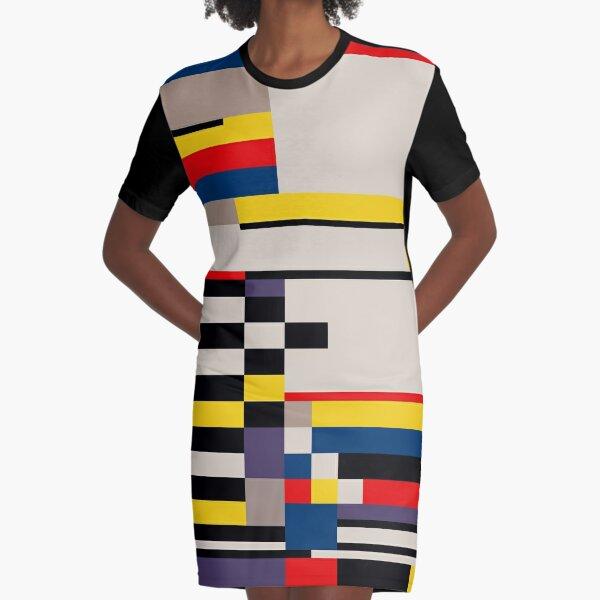 ASYMMETRY Graphic T-Shirt Dress