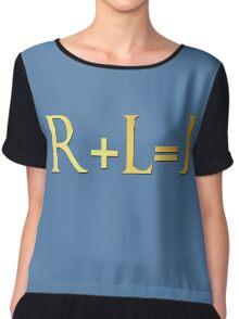 R=L=J Chiffon Top