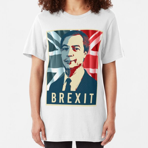 Nigel Farage Brexit Slim Fit T-Shirt