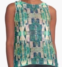 Abstract Collage Pattern Contrast Tank