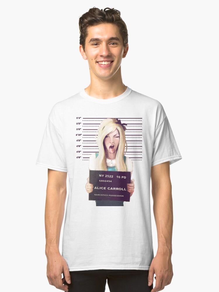 Alice mugshot Classic T-Shirt Front