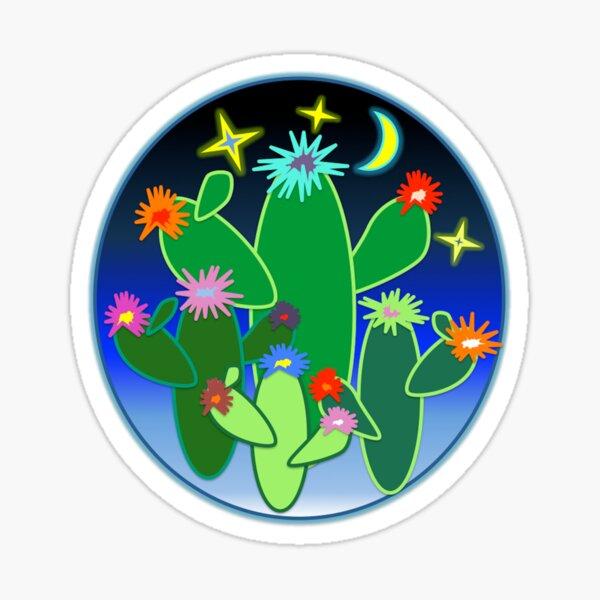Neon Cacti Sticker