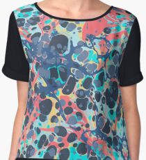 Urban Hip Hop Splash Psychedelic Colors Abstract Pattern Women's Chiffon Top