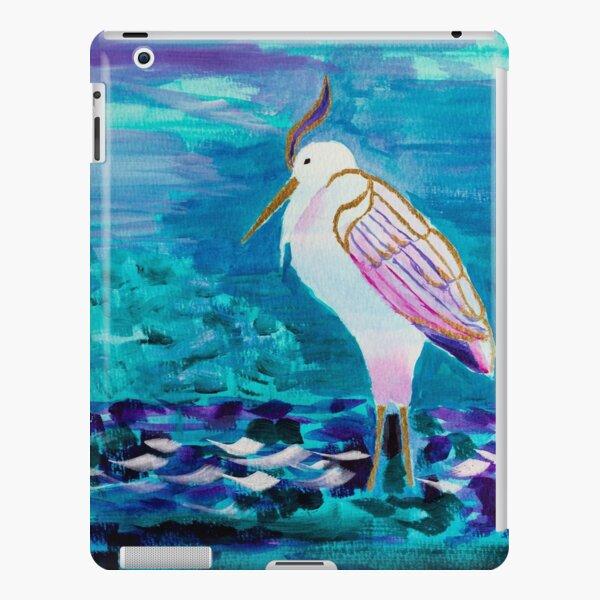 White Heron Egret Lake Bird Portrait Painting iPad Snap Case