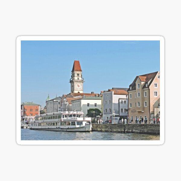 Docked in Passau Sticker