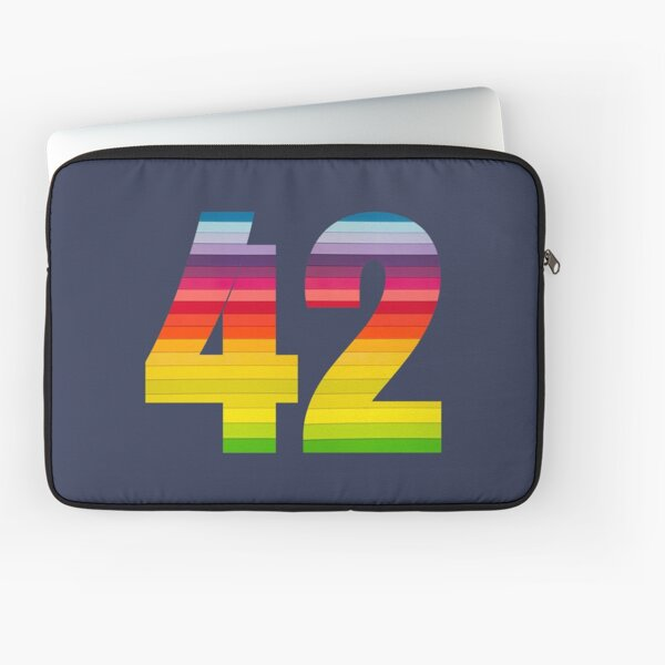 42 in Rainbow Colors - The Ultimate Answer Laptop Sleeve
