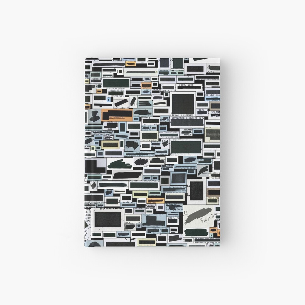 Keep your secrets safe with #redactionart Hardcover Journal