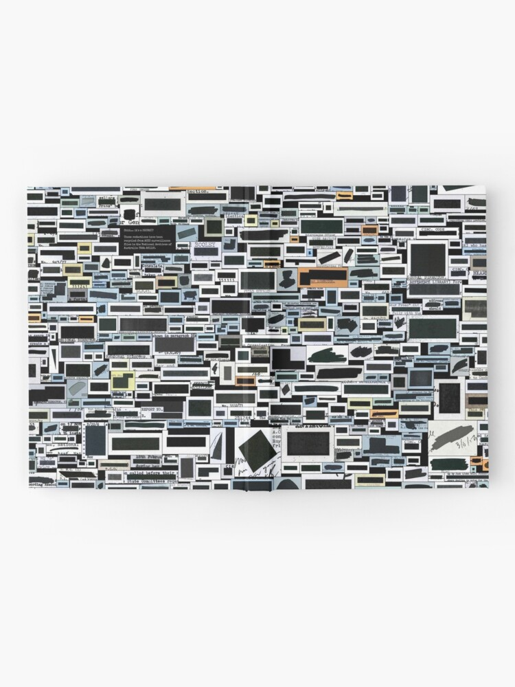 Alternate view of Keep your secrets safe with #redactionart Hardcover Journal