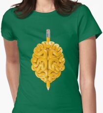 Pencil Brain Womens Fitted T-Shirt