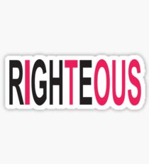Righteous Sticker