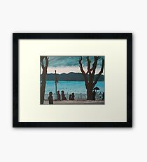 Evening lake Framed Print