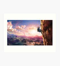 The Legend of Zelda: Breath of the Wild Link Art Print