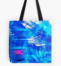 Blue Subway Background Tote Bag