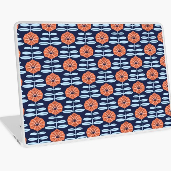Navy poppies Laptop Skin