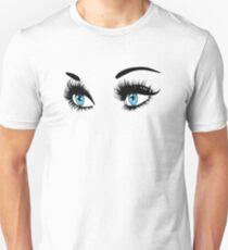 Blue eyes with long eyelashes  T-Shirt