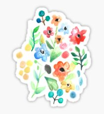 Flourish - Watercolor Floral Sticker
