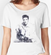 Elvis presley portrait 01 Women's Relaxed Fit T-Shirt