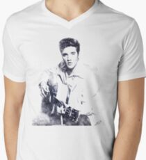 Elvis presley portrait 01 Men's V-Neck T-Shirt