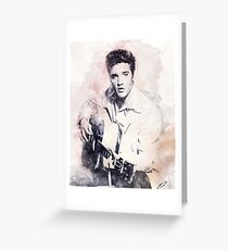 Elvis presley portrait 01 Greeting Card