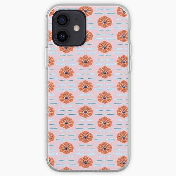 Pink poppies iPhone Soft Case