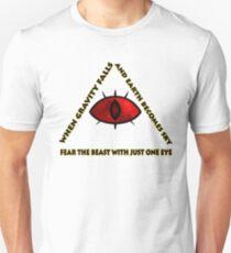 Gravity Falls- bill cipher fear the beast T-Shirt