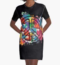 Peace Graphic T-Shirt Dress