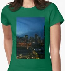 Sky rise city Womens Fitted T-Shirt