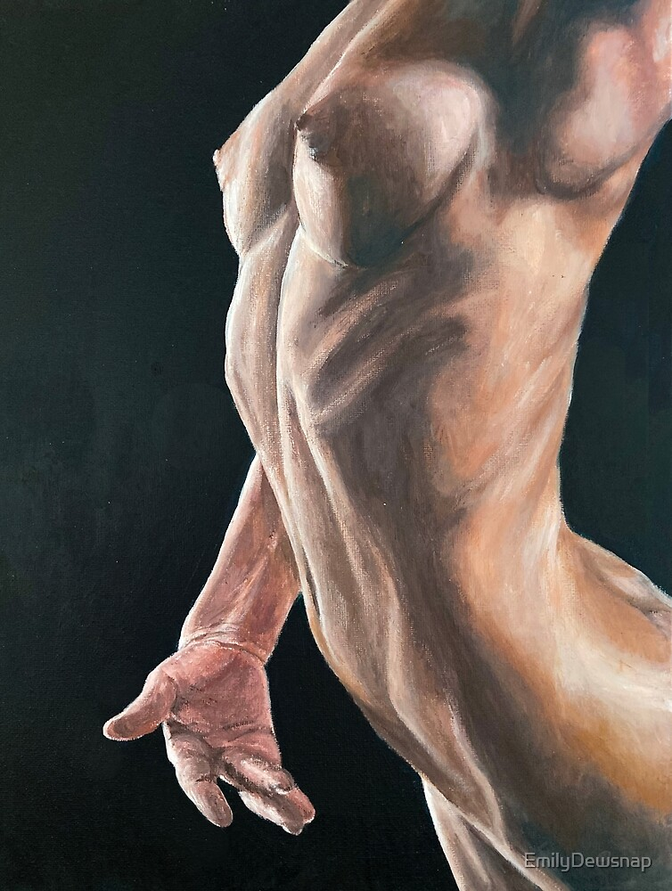 Contours -  Figurative Painted Study of a Ballet Dancer by EmilyDewsnap