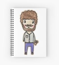 bob ross watercolor doodle Spiral Notebook