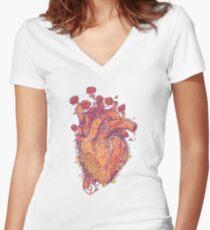 Sweet Heart Women's Fitted V-Neck T-Shirt