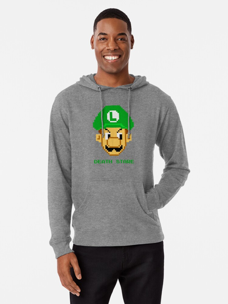 Luigi Death Stare Lightweight Hoodie By Jamessony