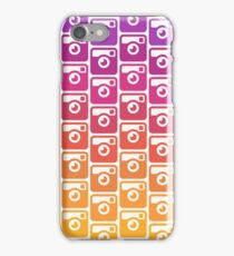 Insta Sunset Cameras Pattern iPhone Case/Skin
