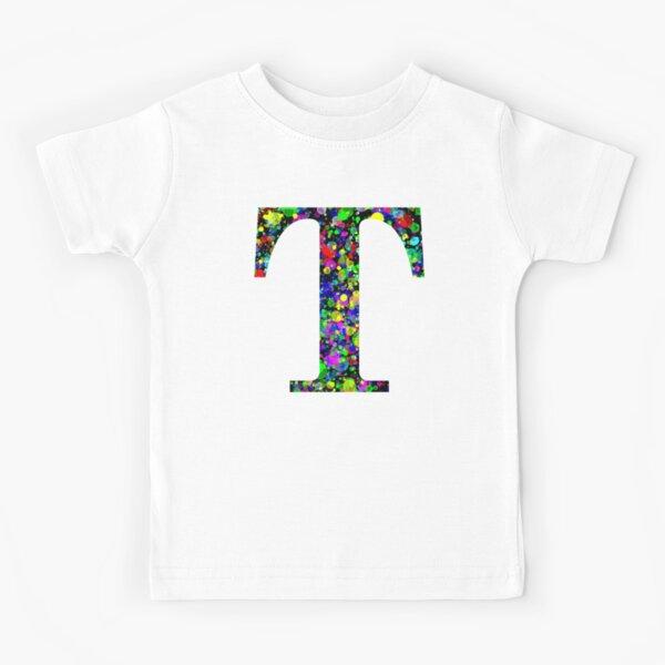 Letter S Paint Splatter Kids T-Shirt