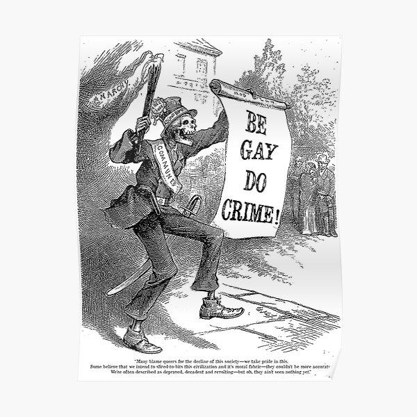 Be Gay Do Crime! Spooky Skeleton Poster