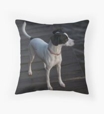 My dog Leica Throw Pillow