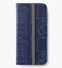 Dr Who Print Pattern  iPhone Wallet/Case/Skin