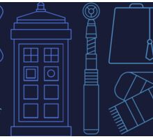 Dr Who Print Pattern  Sticker